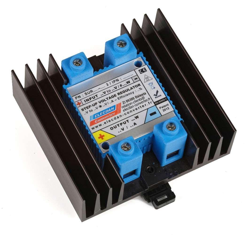 step up voltage regulator à refroidissement passif standard