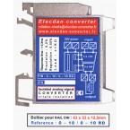 Boîtier pour RAIL DIN : 43 x 53 x 12.5 mm - réf. 0-10 / 0-10 RD