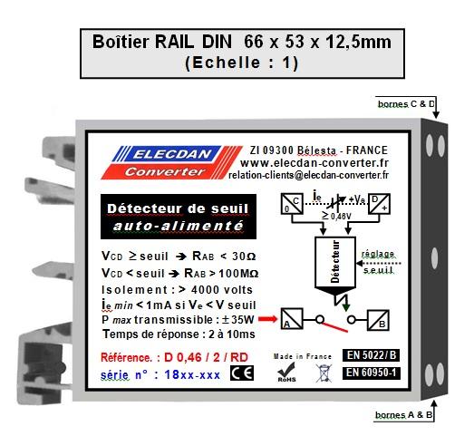 Détecteur de seuil de très basse tension (0,46V à 2V) et auto-alimenté