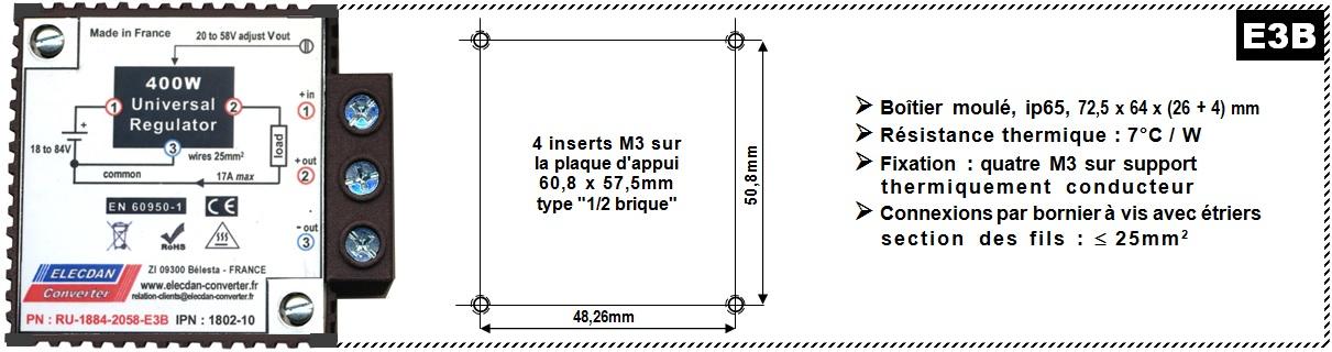 Modèle 4 - Régulateur buck-boost IP65