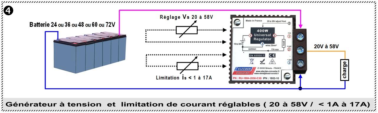 Exemple 4 d'application avec le régulateur élévateur abaisseur 400W